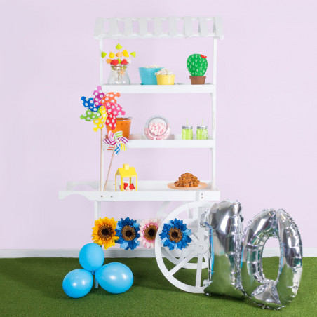 Carrito Candy Bar Madera Envejecida Sweet - Carritos Candy Bar
