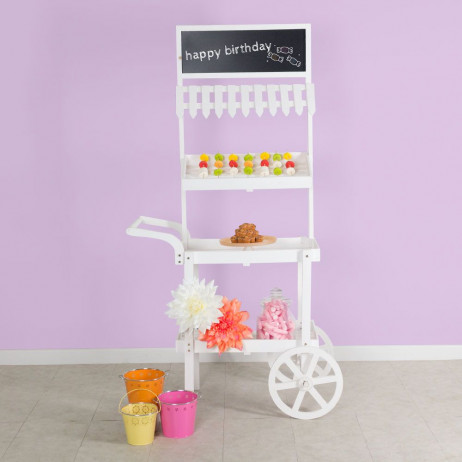 Carrito Candy Bar Madera Envejecida Sugar - Carritos Candy Bar