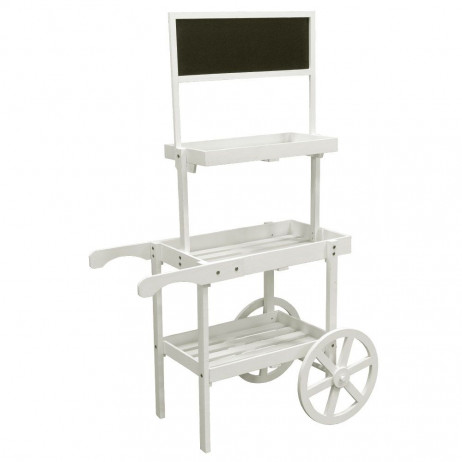 Carrito Candy Bar Madera Envejecida Popcorn - Carritos Candy Bar
