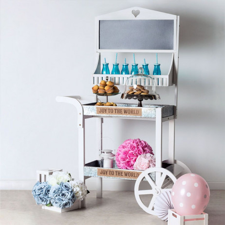 Carrito Candy Bar Madera Envejecida Honey - Carritos Candy Bar