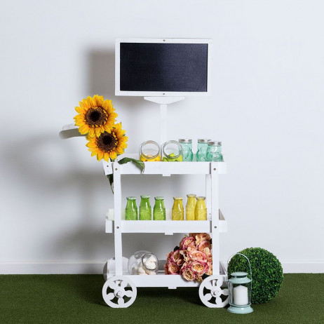 Carrito Candy Bar Madera Envejecida Watermelon - Carritos Candy Bar