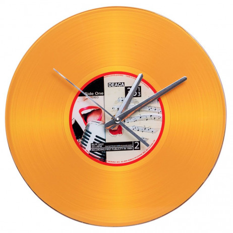 Reloj de Pared Vinilo Oro 30 cm - Decoración