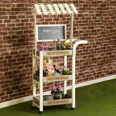 Carrito Candy Bar Madera Envejecida Cookies - Carritos Candy Bar