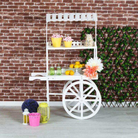 Carrito Candy Bar Madera Envejecida Cherry - Carritos Candy Bar