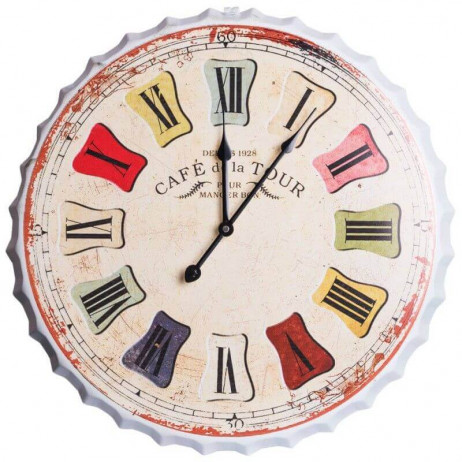 Reloj de Pared Retro 50 cm - Decoración