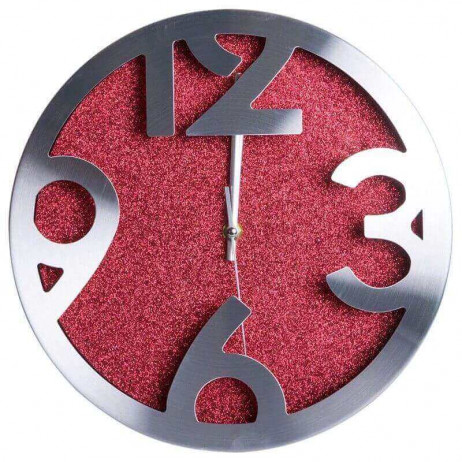 Reloj de Pared Shiny Rojo Grande 30 cm - Decoración