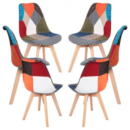 Pack 6 Sillas Synk Patchwork - Packs Sillas Comedor