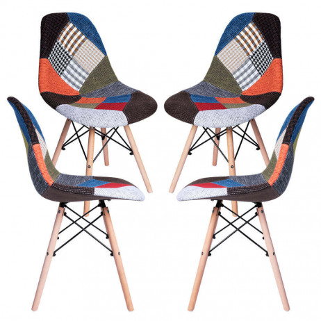 Pack 4 Sillas Tower Patchwork - Packs Sillas Comedor