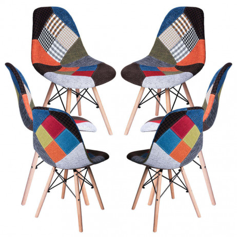 Pack 6 Sillas Tower Patchwork - Packs Sillas Comedor