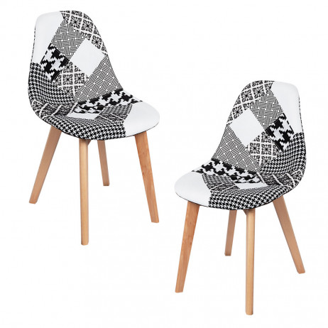 Pack 2 Sillas Synk Patchwork - Packs Sillas Comedor