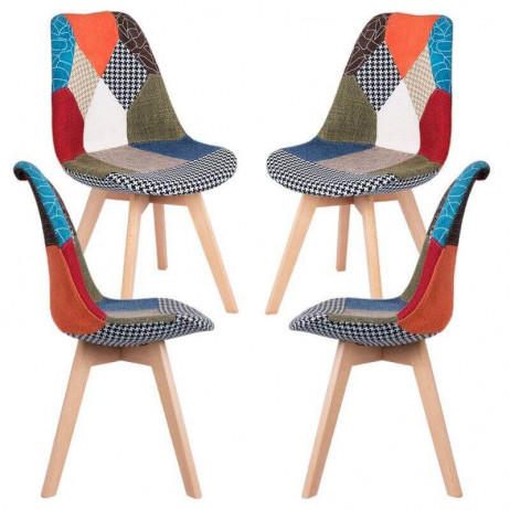 Pack 4 Sillas Synk Patchwork - Packs Sillas Comedor