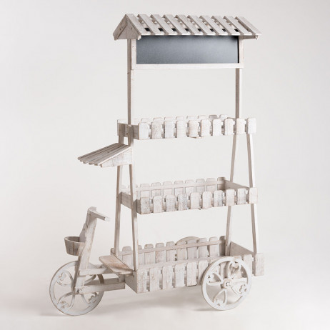 Carrito Candy Bar Cream Blanco