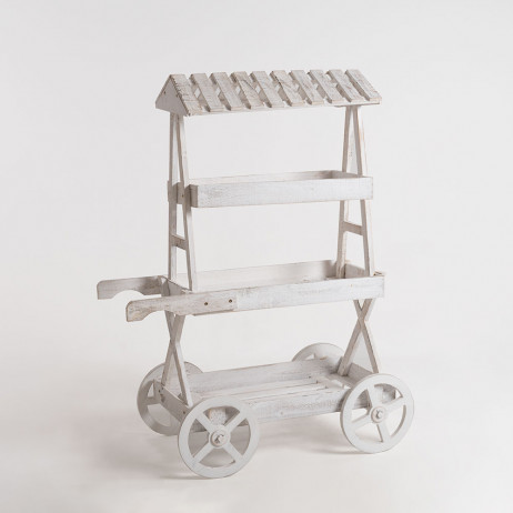 Carrito Candy Bar Cloud Blanco