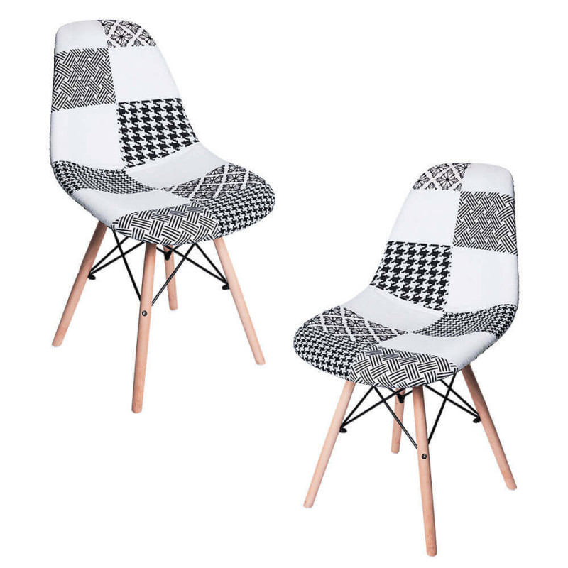 Pack 2 Sillas Tower Patchwork - Packs Sillas Comedor