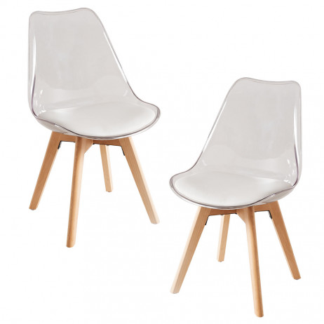 Pack 2 Sillas Synk Transparente Asiento